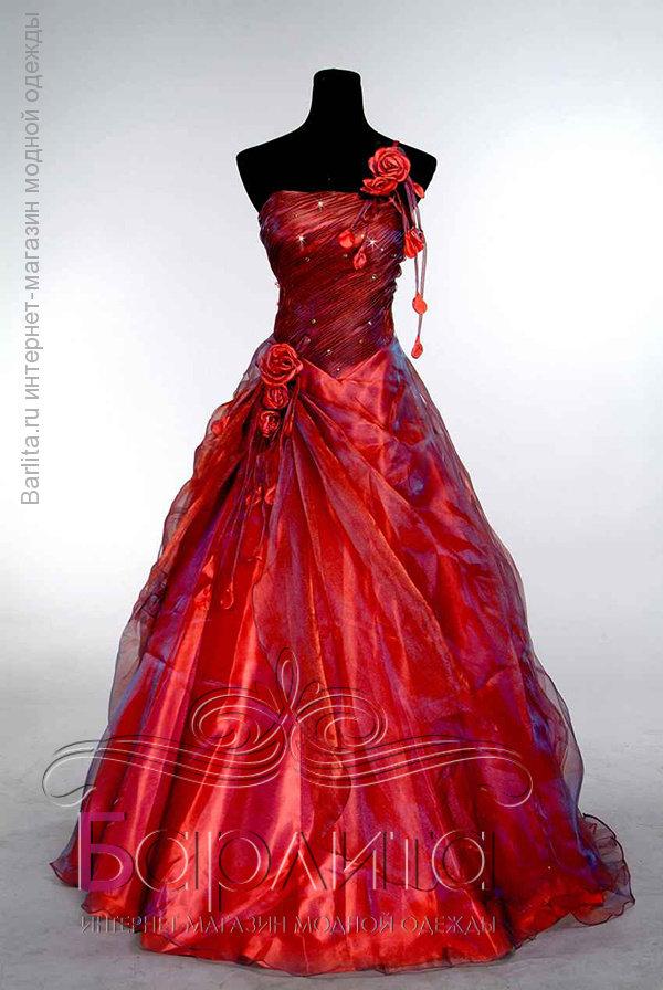 Фото красные бальное платье для