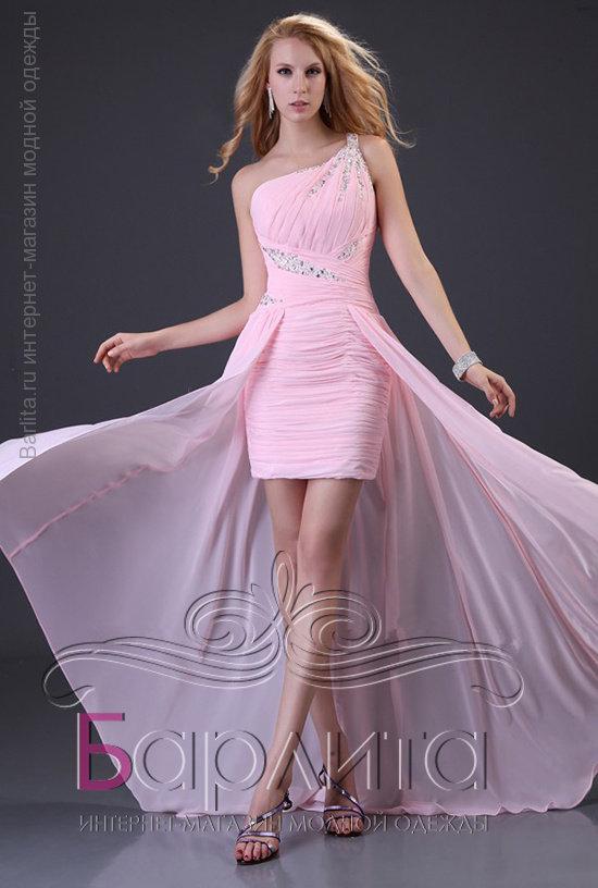 Короткое платья шлейфом фото
