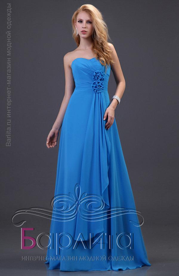 8bc036a6c696 Шикарное голубое платье на выпускной Интернет-магазин Barlita.ru