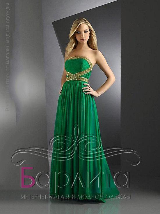 Вечерние платья цвет изумруд
