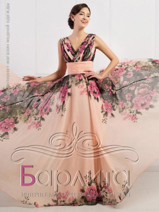 b34f560b574 Цветное вечернее платье