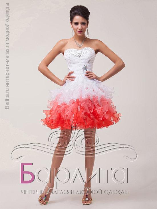 16ac9ddb25f Не дорого Короткое пышное платье